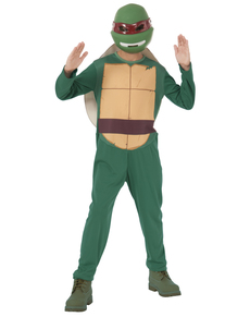 Fato Raphael Tartarugas Ninja para menino em caixa
