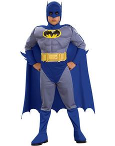 Fato de Batman the Brave and the Bold musculoso para menino