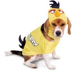 Fato de Angry Birds amarelo para cão
